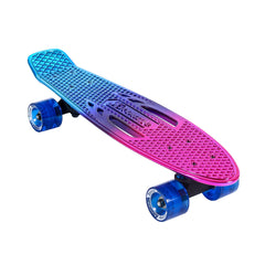 Karnage Retro Tricolor Chrome - Blue/Purple/Pink - Complete Skateboard