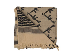 Rothco Shemagh Tactical Desert Scarf - Crossed Rifles Tan