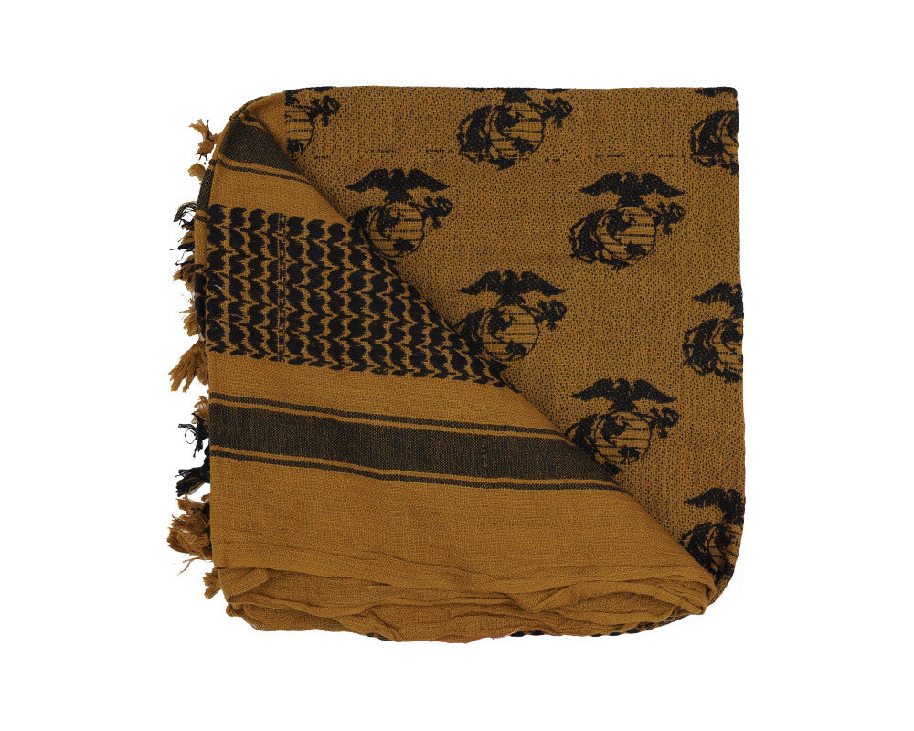 Rothco Shemagh Tactical Desert Scarf - Globe & Anchor Coyote