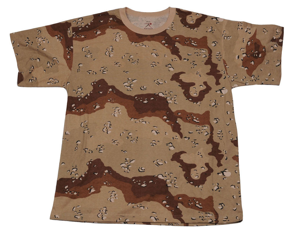 Rothco Short Sleeve T-Shirt - 6 Color Desert Camo