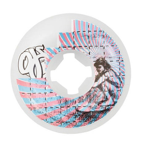 OJ Surfers On Acid - 56mm 99a - Skateboard Wheels (Set of 4) - White