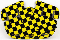 Stinger Paintball Designs Custom Soft Ears - Checkers - Yellow