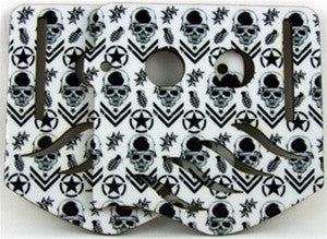 Stinger Paintball Designs Custom Soft Ears - Metal Mulisha - White