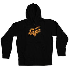 Fox Fade Head Zip-Up Front Fleece - Black/Orange - Men's Sweatshirt