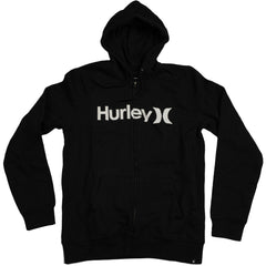 Hurley One & Only Zip Up Hoodie - Black - Mens Sweatshirt