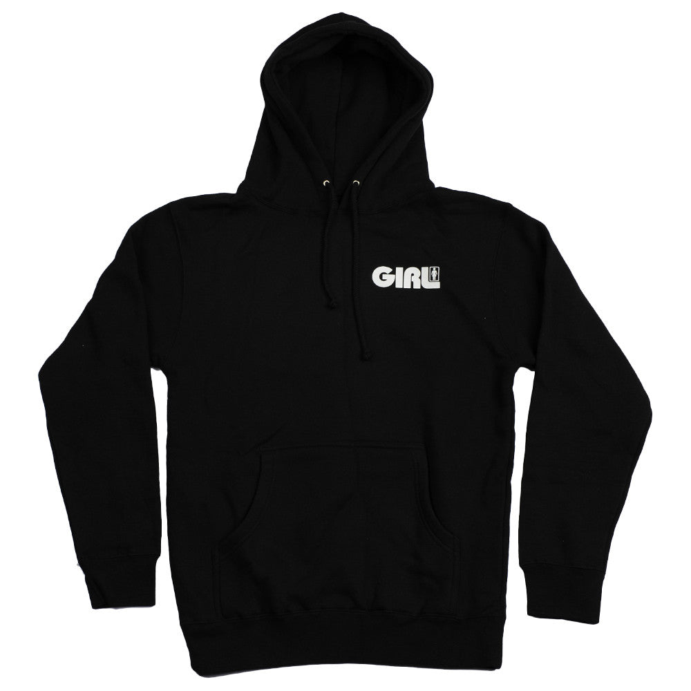 Girl Track Pullover Hoodie - Black - Men's Sweatshirt