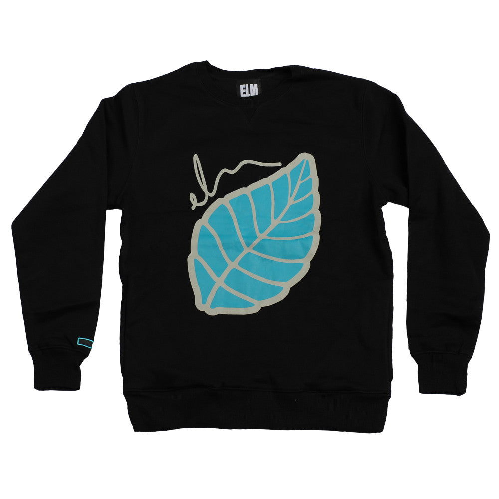 Elm Company The Leaf Crew - Black - Mens Sweatshirt