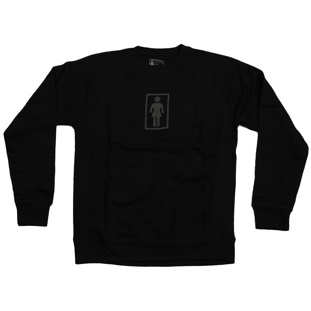 Girl Everyday OG Crew - Black - Men's Sweatshirt
