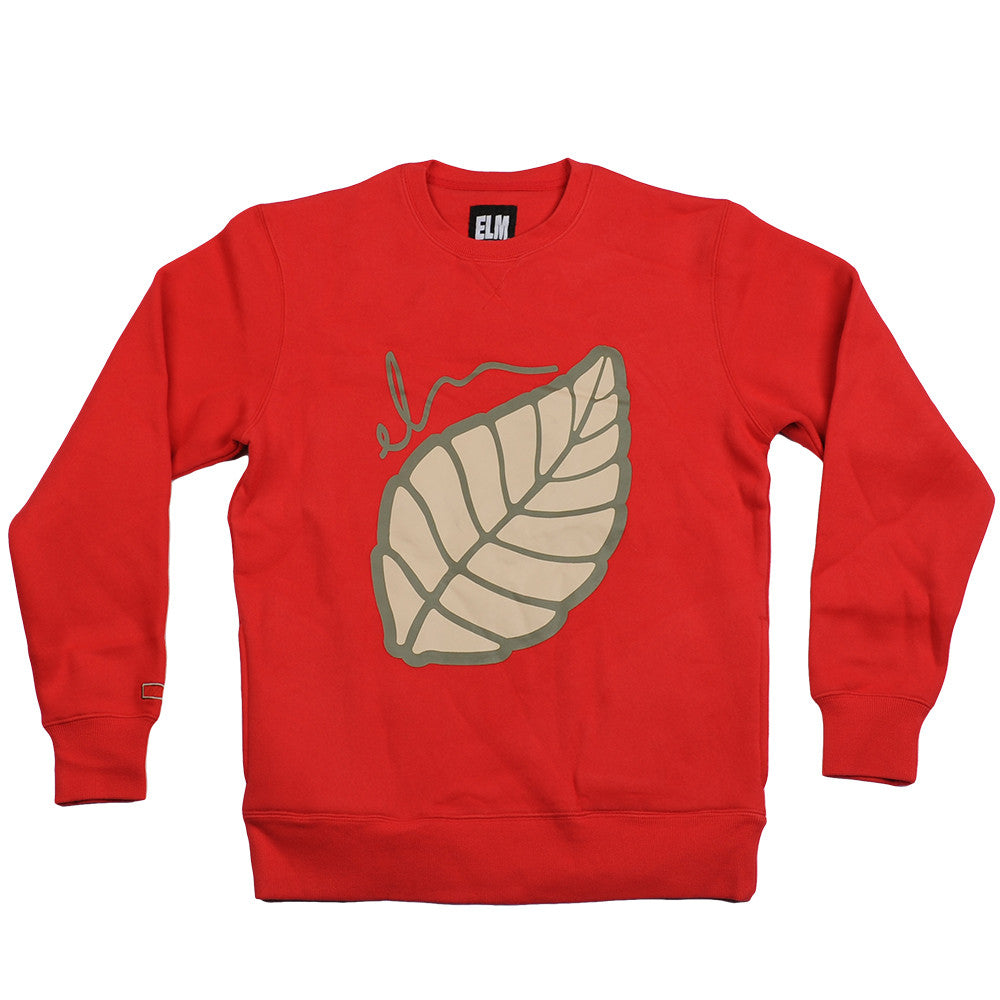 Elm Company The Leaf Crew - Red - Mens Sweatshirt