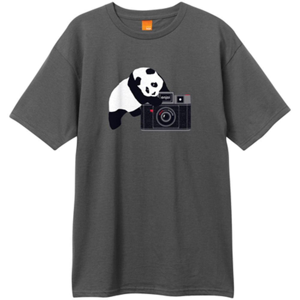 Enjoi Camera Panda S/S - Charcoal - Men's T-Shirt