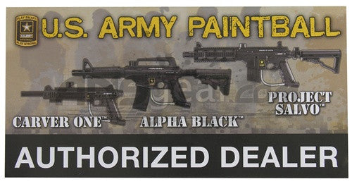 "Tippmann Authorized Dealer Window Sticker 12"" x 6"" - Army"