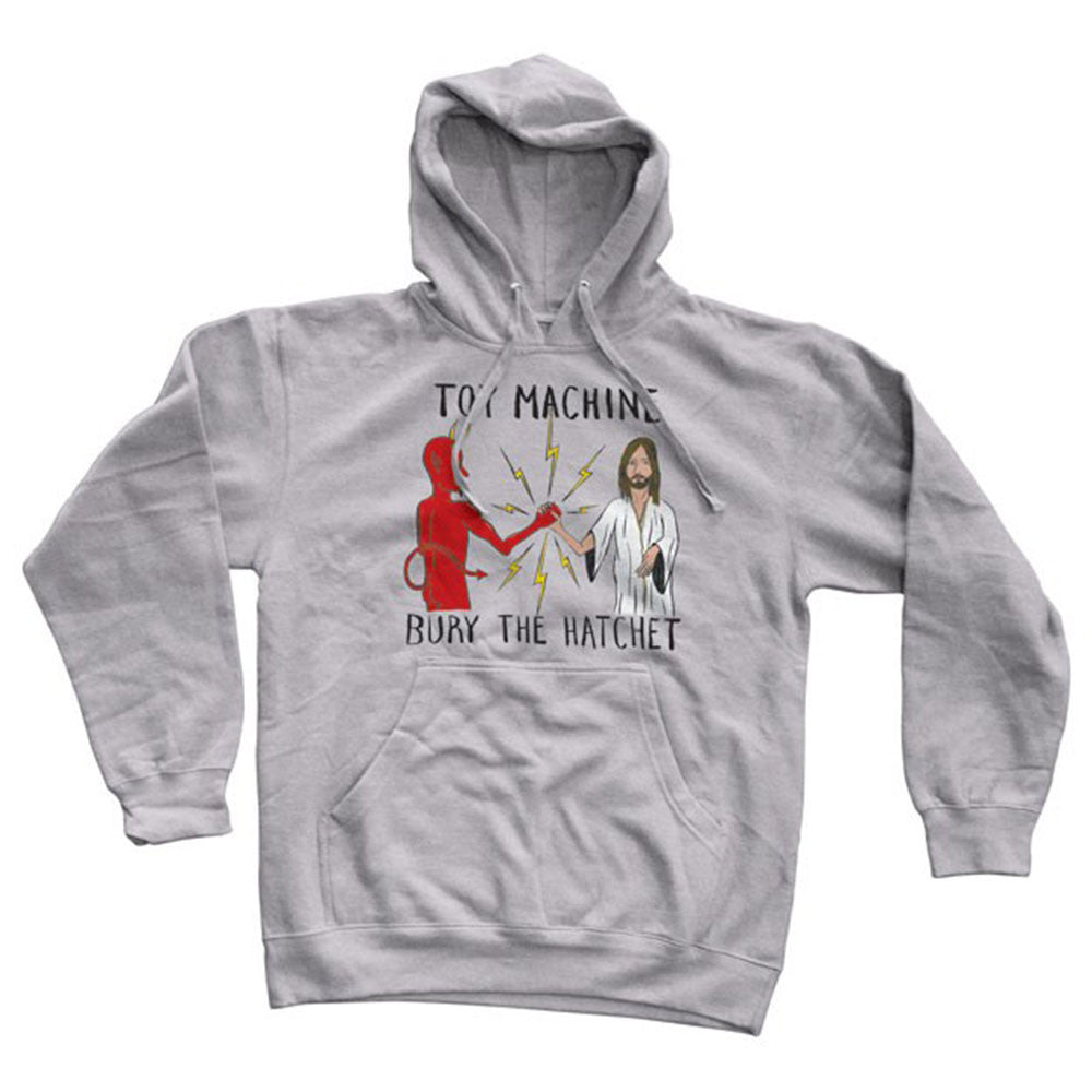 Toy Machine Bury The Hatchet Hooded - Grey - Men's Sweatshirt