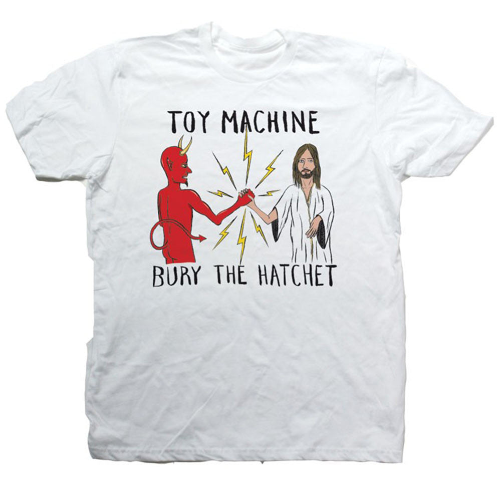 Toy Machine Bury The Hatchet II - White - Men's T-Shirt