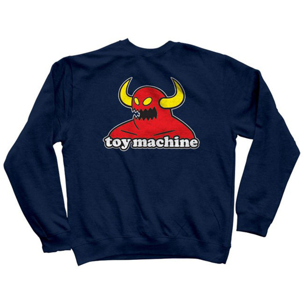 Toy Machine Monster Crew - Navy - Men's Sweatshirt
