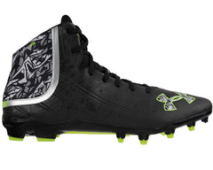 Under Armour Banshee Mid MC Paintball Cleats - Black/White