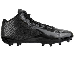 Under Armour Nitro Mid MC Paintball Cleats - Black/Charcoal