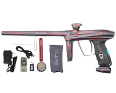 DLX Luxe 2.0 OLED Paintball Gun - 3D Splash Dust Charcoal/Red