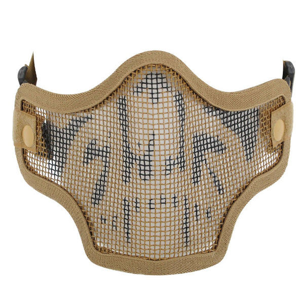 Valken 2G Wire Mesh Tactical Airsoft Mask - Tan Skull