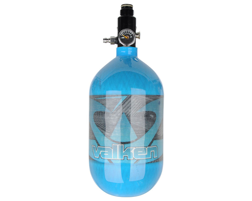 Valken 68/4500 Compressed Air Paintball Tank - Redemption Blue