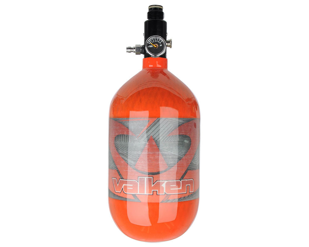 Valken 68/4500 Compressed Air Paintball Tank - Redemption Red