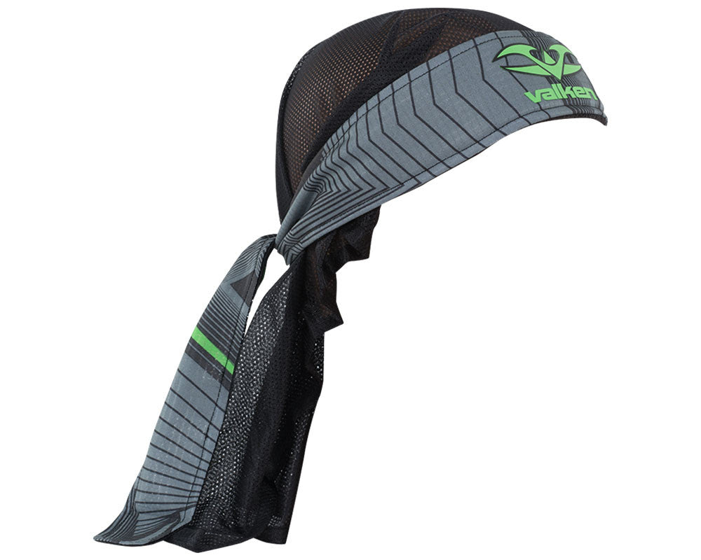 2015 Valken Redemption Vexagon Paintball Headwrap - Neon Green/Grey