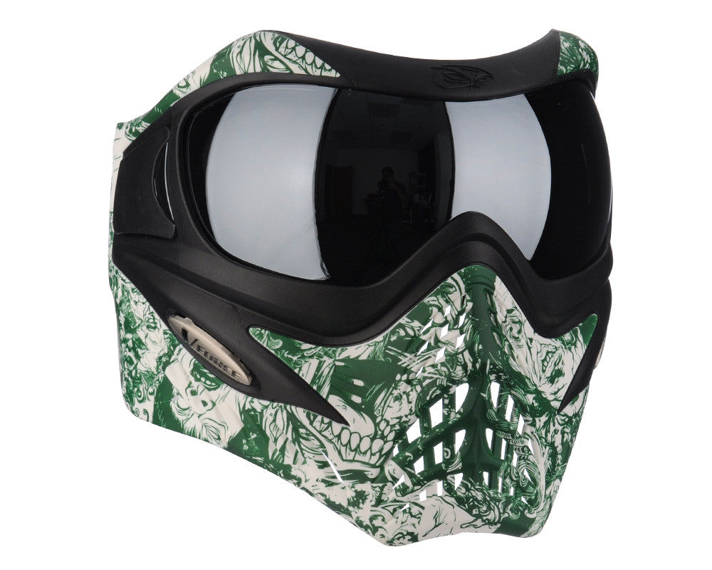 V-Force Grill Paintball Mask - SE Zombie w/ Silver Chrome Lens