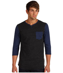 Element Renwick L/S Knit - Blue - Mens T-Shirt