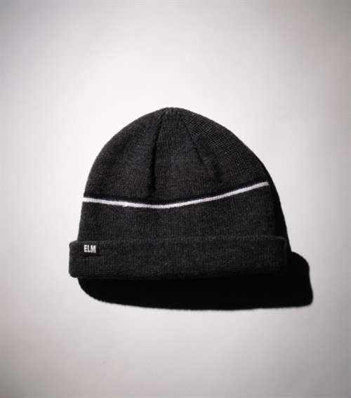 Elm Company The Two Striped Standard Beanie - Grey - Mens Beanie