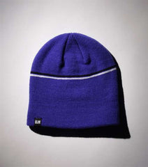 Elm Company The Two Striped Standard Beanie - Blue - Mens Beanie