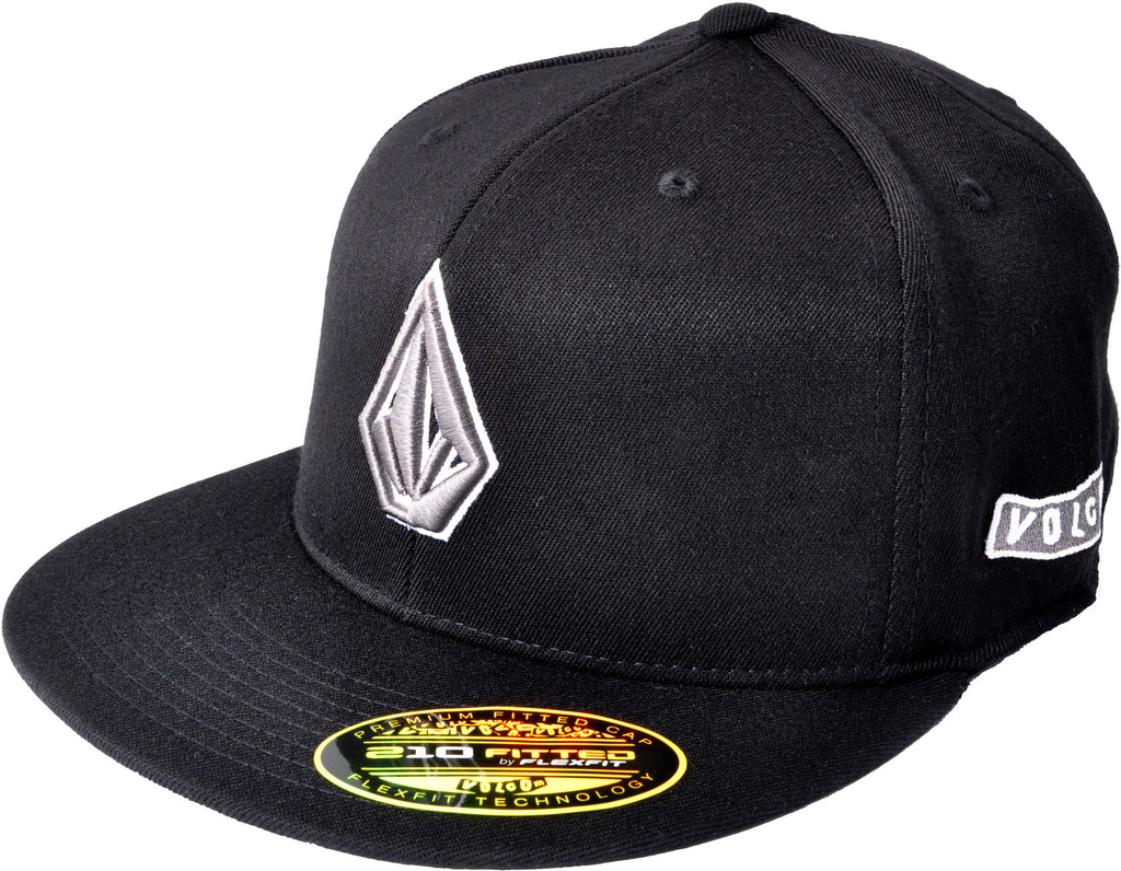 Volcom 2Stone 210 Fitted Hat - Black - Men's Hat
