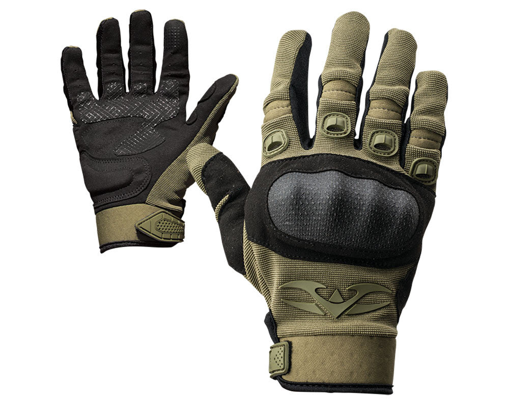 Valken Zulu Full Finger Tactical Paintball Gloves - Olive