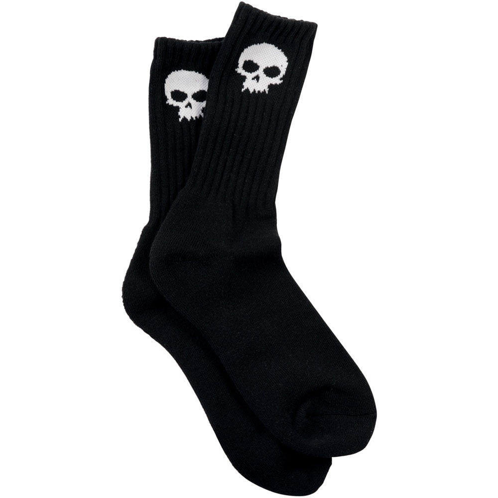 Zero Skull Crew Socks - Black - Mens Socks (1 Pair)