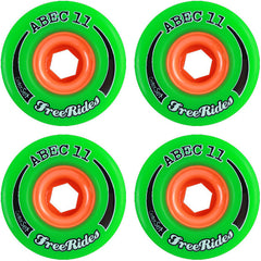 Abec 11 Centerset Free Ride - Green - 72mm 84a - Skateboard Wheels (Set of 4)