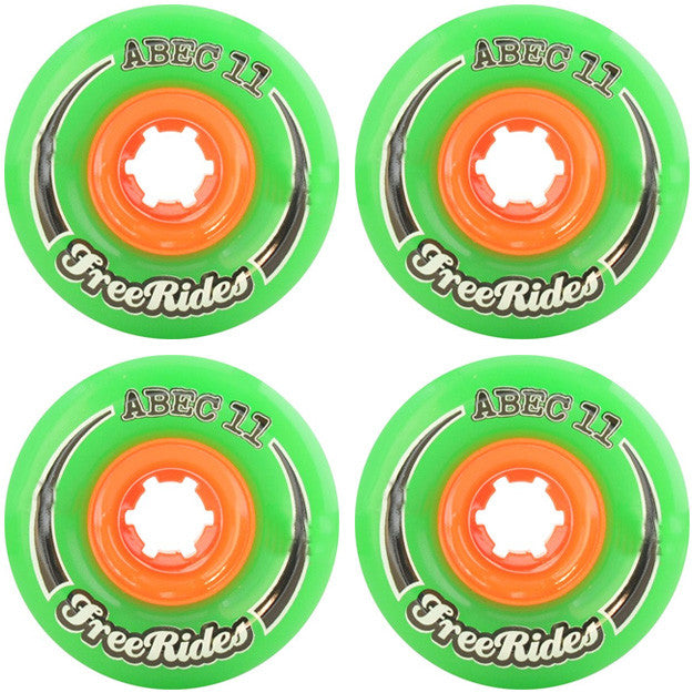 Abec 11 CLASSIC Free Ride - Green - 66mm 84a - Skateboard Wheels (Set of 4)