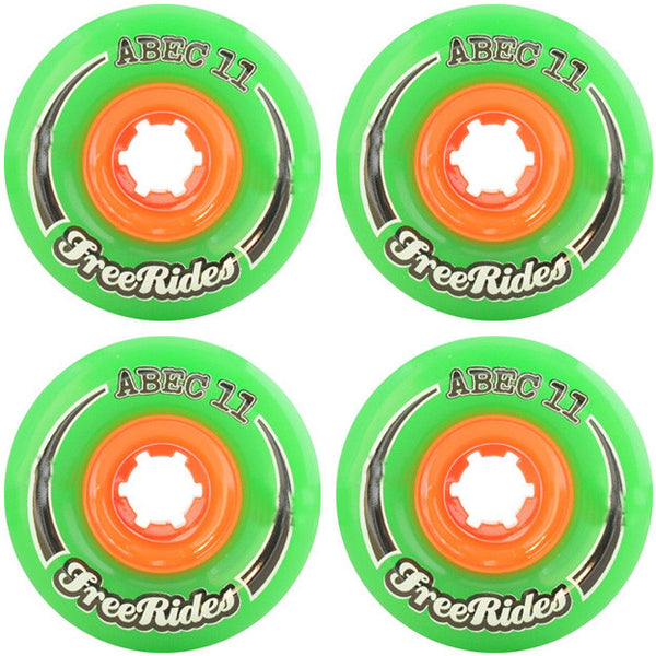 Abec 11 CLASSIC Free Ride - Green - 77mm 78a - Skateboard Wheels (Set of 4)