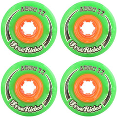 Abec 11 CLASSIC Free Ride - Green - 72mm 78a - Skateboard Wheels (Set of 4)
