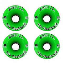 Abec 11 Flashbacks - Green - 70mm 78a - Skateboard Wheels (Set of 4)