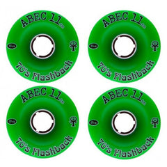 Abec 11 Flashbacks - Green - 70mm 84a - Skateboard Wheels (Set of 4)