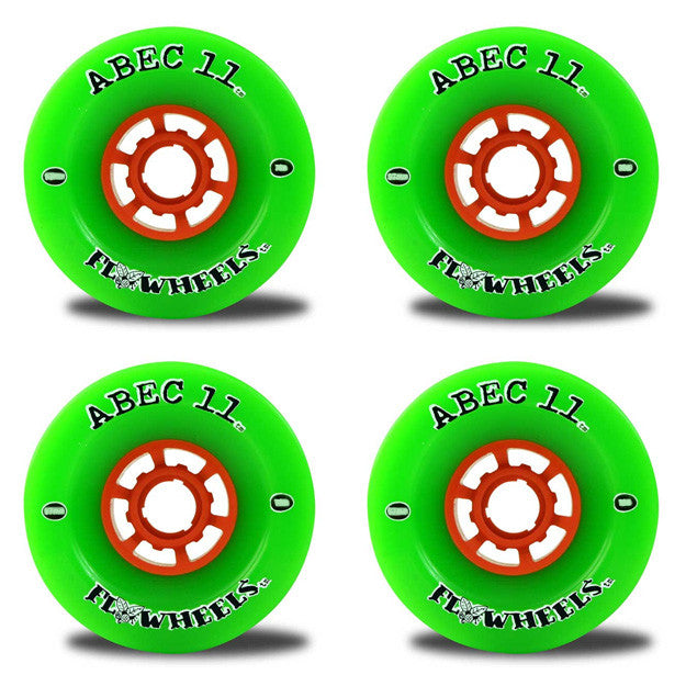 Abec 11 Flywheels - Green - 97mm 78a - Skateboard Wheels (Set of 4)