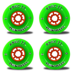 Abec 11 Flywheels - Green - 76mm 81a - Skateboard Wheels (Set of 4)