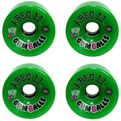 Abec 11 Gumballs - Green - 76mm 84a - Skateboard Wheels (Set of 4)