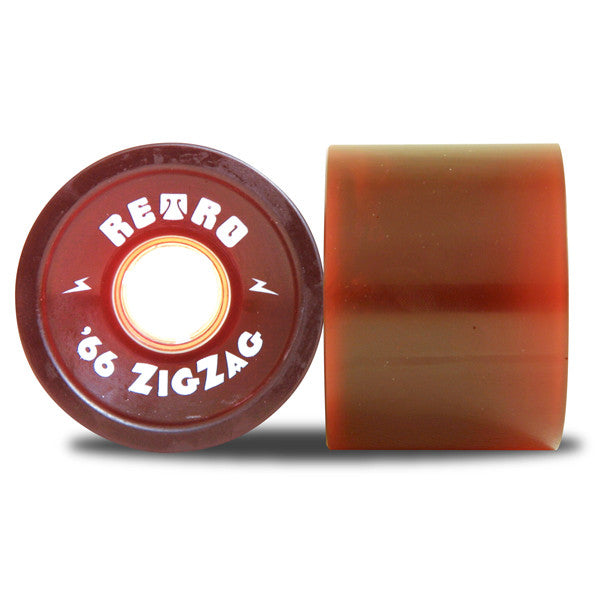 Abec 11 Zig Zags - Red - 66mm 78a - Skateboard Wheels (Set of 4)