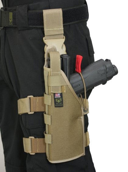 Full Clip Holster Thigh Rig - Left - Coyote