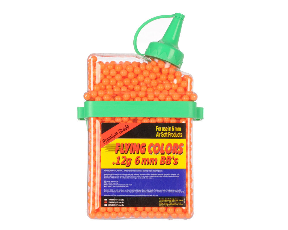 2,000-ct. Flying Colors .12g Airsoft BB's - Orange