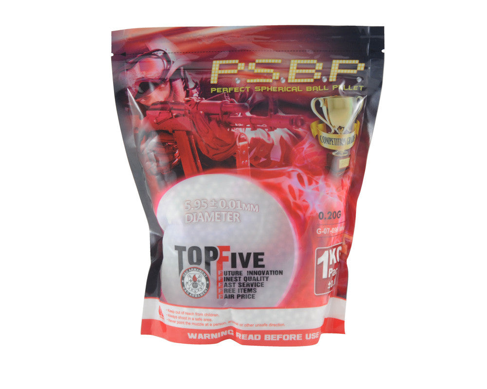 G&G Airsoft .20g Perfect BB's - 1kg - White