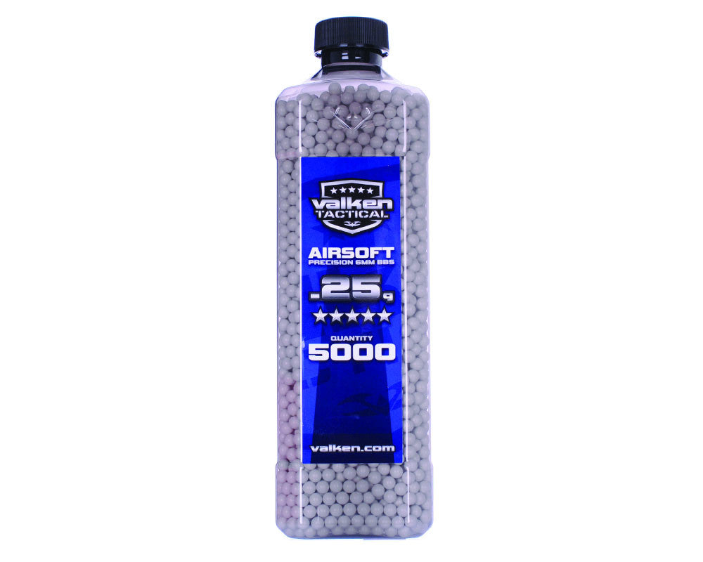 Valken Tactical .25g Airsoft BB's - 5000 - White