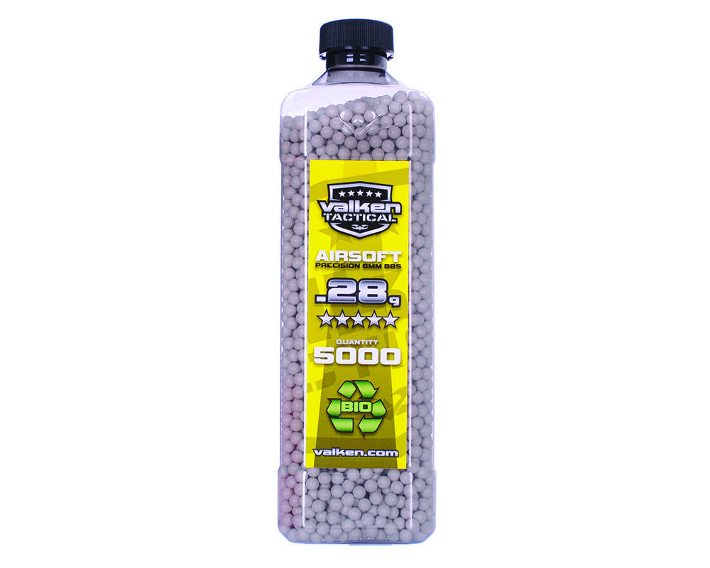 Valken Tactical .28g Bio Airsoft BB's - 5000 - White