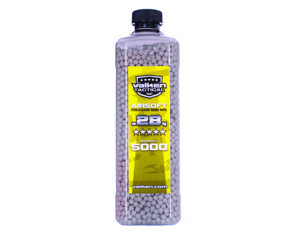 Valken Tactical .28g Airsoft BB's - 5000 - White
