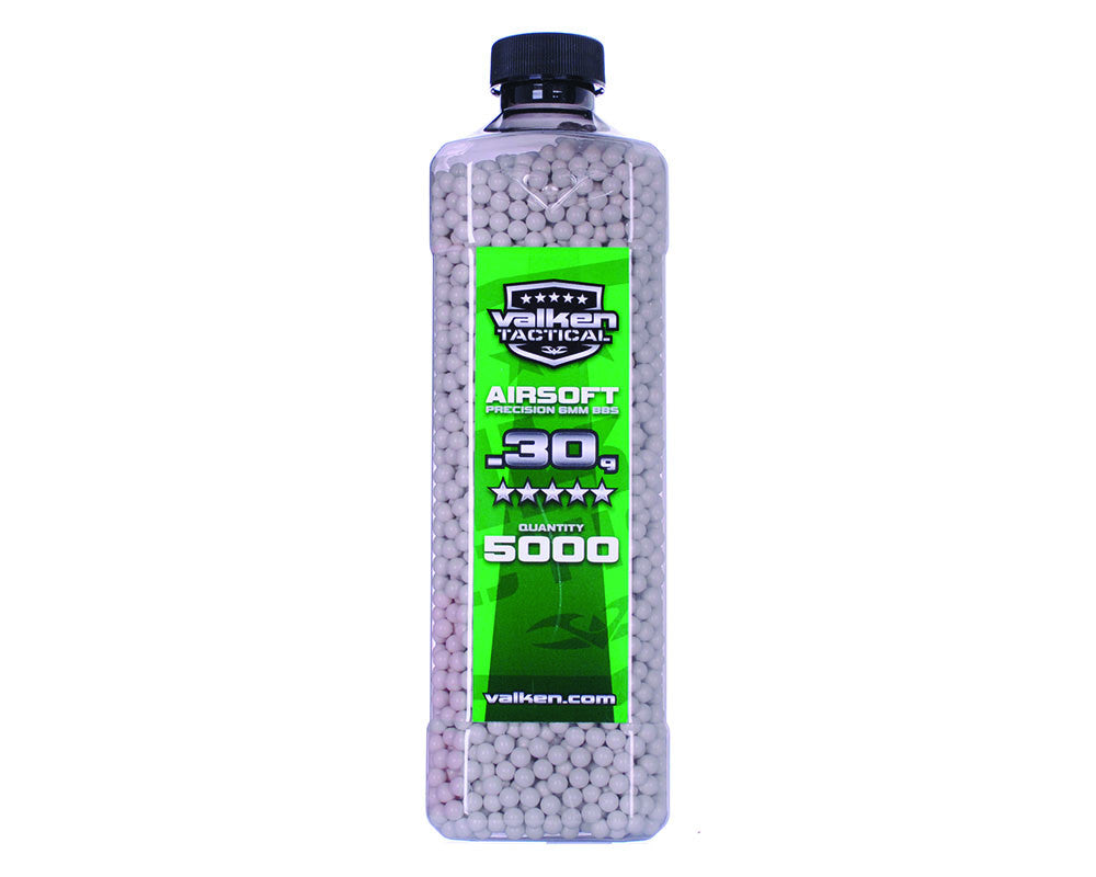 Valken Tactical .30g Airsoft BB's - 5000 - White