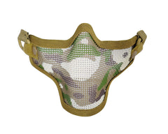 1G Strike Steel Half Airsoft Mask - Camo